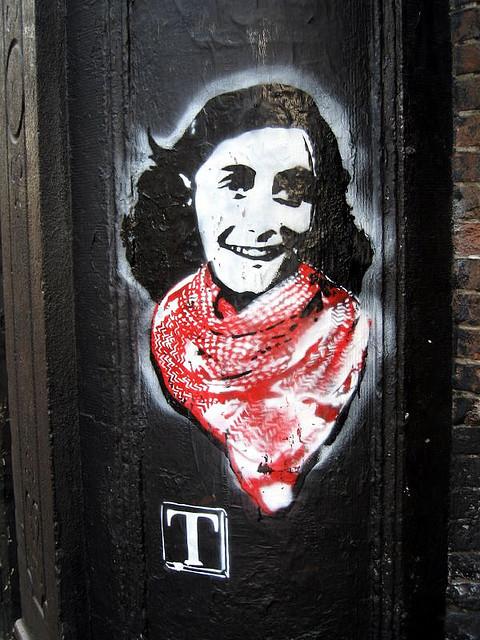 Anne Frank Street Art by  TIA, CC
