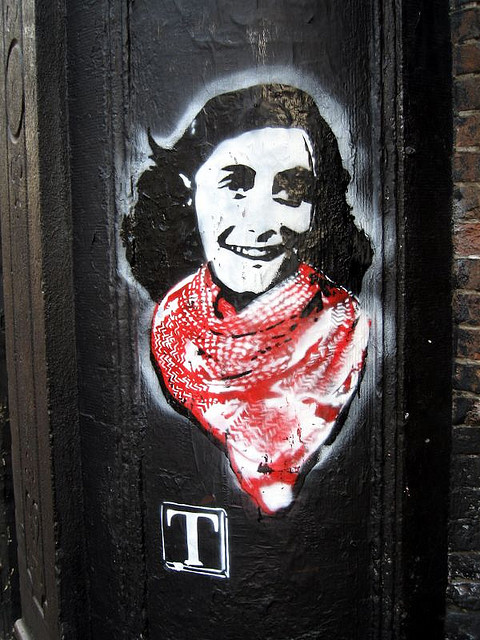 Anne Frank Street Art by  TIA, CC